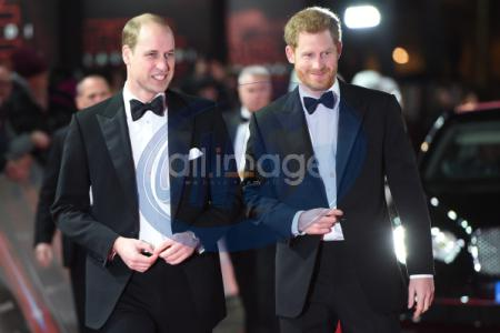 The Duke of Cambridge and Prince Harry attend  The European Premiere of Star Wars: The Last Jedi