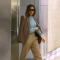 Victoria Beckham arrives at the New York Airport